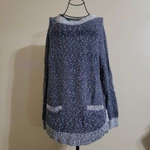 Lou And Grey Textured Sweater Size Medium Pockets